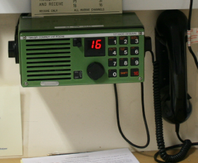 office radio. One Is Upstairs In The Operations Room Which Has An External Speaker Office And Another Radio Downstairs With Speakers Going To Changing